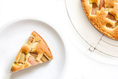 Rhubarb pie Stock Images