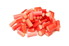 Rhubarb pile Royalty Free Stock Image