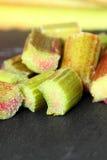 Rhubarb slate Royalty Free Stock Images