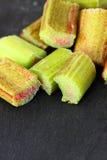 Rhubarb slate Stock Photos