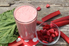 Rhubarb smoothie Royalty Free Stock Image
