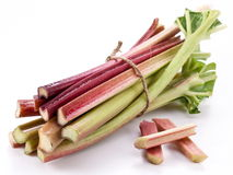 Rhubarb stalks. Royalty Free Stock Images