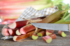 Rhubarb stalks Royalty Free Stock Photos