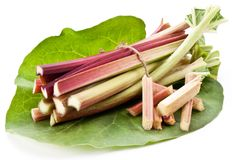 Rhubarb stalks. Royalty Free Stock Photo