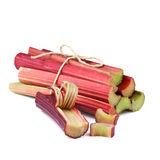 Rhubarb stalks on white Royalty Free Stock Images