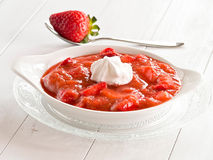 Rhubarb strawberries compote Royalty Free Stock Image