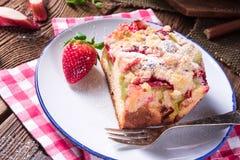 Rhubarb strawberry brioches. A tasty rhubarb strawberry brioches Stock Photos