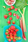 Rhubarb and strawberry Royalty Free Stock Image