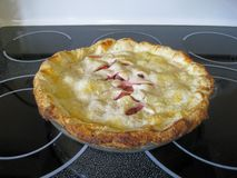 Strawberry pie. The pie is freshly baked and hot Stock Photo
