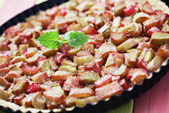 Rhubarb tart Royalty Free Stock Photos