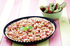 Rhubarb tart Stock Photography