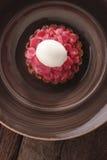 Rhubarb tart dessert royalty free stock image