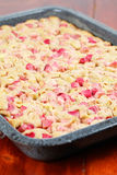 Rhubarb wholemeal cake Royalty Free Stock Images
