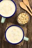 Rhubarb and Yogurt Smoothie Royalty Free Stock Photos
