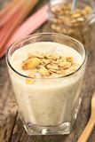 Rhubarb and Yogurt Smoothie Royalty Free Stock Photo