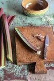 rhubarbe photographie stock