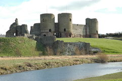 Rhuddlan Castle. In North Wales Stock Images