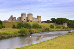 Rhuddlan Castle ruins, North Wales Royalty Free Stock Photography