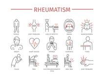 rhumatisme Graphismes de vecteur illustration libre de droits