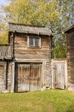 århundrade för th som 17 farmbuilding Delsbo Arkivbild