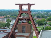 Rhur museum essen germany. Cultural, people, mine, coal, old, structure, steel, plant, city, view, cityscape royalty free stock photography