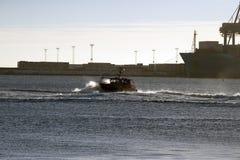 Århus pilot Boat Fotografering för Bildbyråer