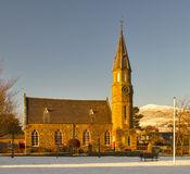 Rhynie Parish Church in winter. Stock Image