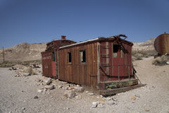 Rhyolite Caboose Royalty Free Stock Photography