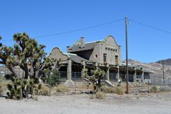 Rhyolite Casino. Old casino located in Rhyolite Ghost Town of Nye County Nevada Royalty Free Stock Photography