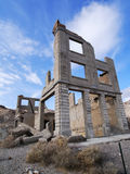 Rhyolite Ghost Town. Abandoned bank building of Rhyolite Ghost town in Nevada, United States Royalty Free Stock Image