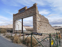 Rhyolite Ghost Town. Abandoned general store of Rhyolite Ghost town in Nevada, United States Royalty Free Stock Photo