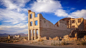 Rhyolite Ghost Town Bank Ruins Royalty Free Stock Photography