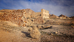 Rhyolite Ghost Town Buildings Royalty Free Stock Photo