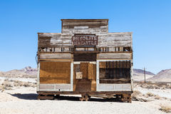 Rhyolite Ghost Town. Rhyolite is a ghost town in Nye County, in the U.S. state of Nevada Royalty Free Stock Photos