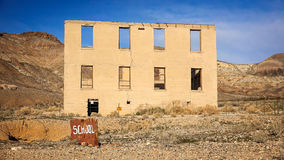 Rhyolite Ghost Town School Royalty Free Stock Photography