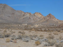 Rhyolite i Death Valley Nevada USA Royaltyfria Bilder
