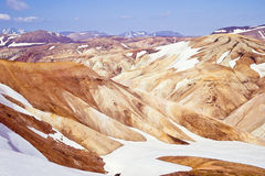 Rhyolite mountains, Iceland Royalty Free Stock Photography