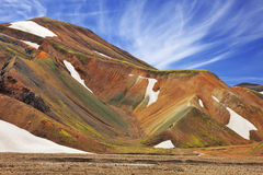 Rhyolite mountains in the reserve Stock Image