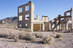 Rhyolite, Nevada ghost town. Royalty Free Stock Photography