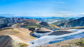 Rhyoliteberg, Fjallabak naturreserv, Island Royaltyfria Foton