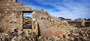 Rhyolith-Ruinen lizenzfreie stockfotos