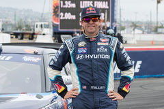 Rhys Millen  rally driver. San Pedro, CA - September 20, 2014:Rhys Millen rally driver at the Red Bull GRC Global Rallycross at the Port of Los Angeles in San Royalty Free Stock Photography