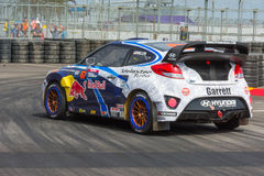 Rhys Millen  rally driver. San Pedro, CA - September 20, 2014:Rhys Millen rally driver at the Red Bull GRC Global Rallycross at the Port of Los Angeles in San Stock Photo