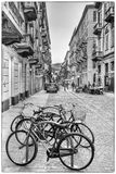 The rhythm of  Andrea Doria. Andrea Doria street in Turin. The photography like a music and every photo has it own rhythm Royalty Free Stock Photography