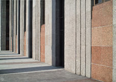 Rhythm of architectural lines. Royalty Free Stock Photography