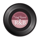 Rhythm and blues vinyl record Royalty Free Stock Photo