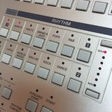 Rhythm. Buttons for setting the rhythm of an electronic keyboard Royalty Free Stock Photos