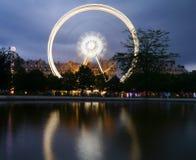 Paris Big wheel fairground reflection Stock Image