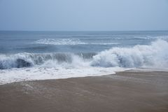 Rhythm of Ocean waves. In nature Stock Image