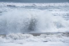 Rhythm of Ocean waves. In nature Royalty Free Stock Photography